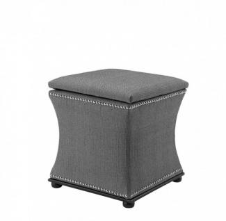 Casa Padrino Luxus Sitz Hocker Grau 47 x 47 x H. 52 cm - Luxus Qualität