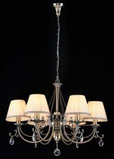 Casa Padrino Barock Kristall Decken Kronleuchter Bronze 65 x H 49 cm Antik Stil - Möbel Lüster Leuchter Hängeleuchte Hängelampe