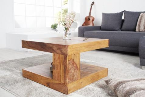 Casa Padrino Designer Massivholz Couchtisch Natur 60 x 60 x H.40cm - Salon Wohnzimmer Tisch - Vorschau 3