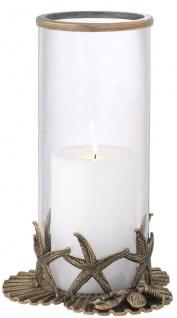 Casa Padrino Luxus Kerzenleuchter Vintage Messingfarben Ø 20, 5 x H. 31, 5 cm - Luxus Deko Accessoires