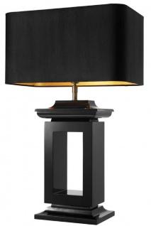 Casa Padrino Luxus Tischleuchte Schwarz 55 x 25 x H. 90 cm - Hotel & Restaurant Tischlampe