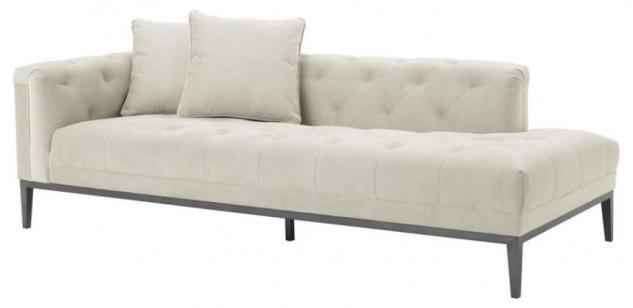 Casa Padrino Luxus Sofa Hellgrau Linksseitig 220 x 96 x H. 66 cm - Hotel Möbel