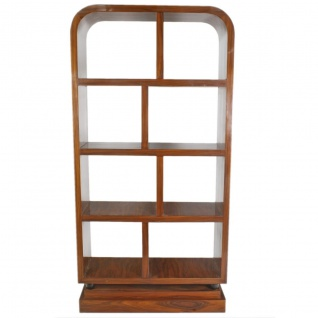 Casa Padrino Art Deco Bücherregal Mahagoni - Artdeco Bücher Schrank Regalsystem Möbel Antik Stil