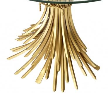 Casa Padrino Luxus Konsole Antik Gold 90 x 45 x H. 76 cm - Designer Konsolentisch - Vorschau 4