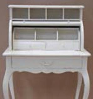 Casa Padrino Shabby Chic Sekretär Landhaus Stil Look Weiß - Barock Rokoko Stil - Vorschau 2