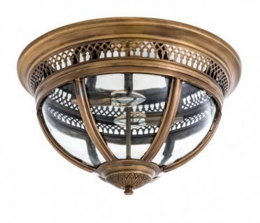 Casa Padrino Luxus Deckenleuchte Antik Messing Durchmesser 45 x H 30 cm Antik Stil - Möbel Lüster Deckenlampe - Vorschau 2