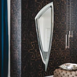 Casa Padrino Luxus Designer Spiegel 75 x 8 x H. 215 cm - Wandspiegel mit Rahmen aus gebogenem Glas - Luxus Kollektion