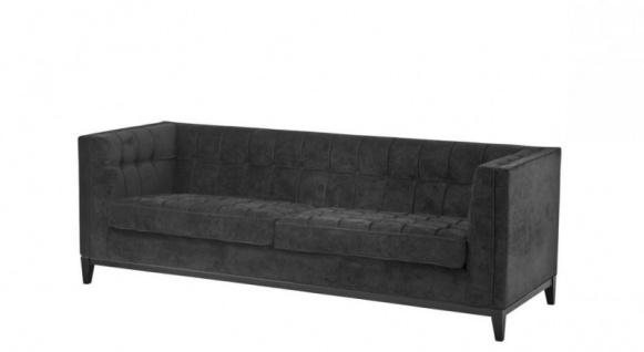 Casa Padrino Luxus Sofa Schwarz - Wohnzimmer Möbel