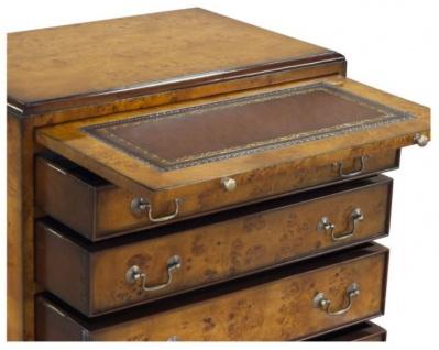 Casa Padrino Luxus Jugendstil Kommode mit 4 Schubladen Braun 62 x 39 x H. 70 cm - Luxus Qualität - Vorschau 3