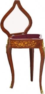 Casa Padrino Barock Beistelltisch Mahagoni Intarsien / Gold H75 x 55 cm - Ludwig XVI Antik Stil Tisch - Möbel - Vorschau 2