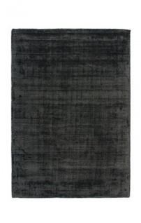 Casa Padrino Designer Teppich Vintage Look Viscose Anthrazit - Handgefertigt - Möbel Teppich