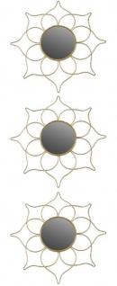 Casa Padrino Designer Spiegel Set Gold Ø 25 cm - Wandspiegel 3er Set