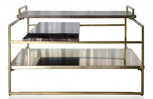 Casa Padrino Luxus Couchtisch Gold 60 x 60 x H. 36, 5 cm - Designer Wohnzimmertisch - Vorschau 3