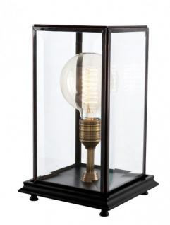 Casa Padrino Luxus Tischleuchte Schwarz - Luxus Leuchte