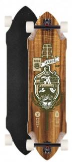 Arbor Longboard Komplettboard Vugenhausen 37.0 x 10.0 inch Downhill Cruiser Carver - Special Edition mit Koston Kugellagern