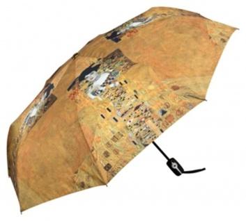 """MySchirm Designer Taschenschirm Gustav Klimt: """" Adele"""" - Eleganter Stockschirm - Luxus Design"""