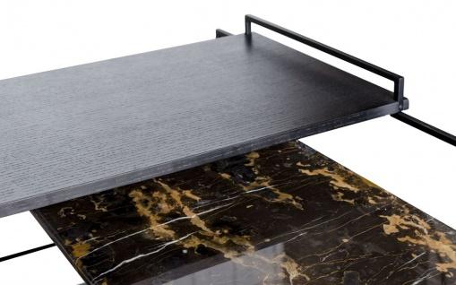 Casa Padrino Luxus Couchtisch Schwarz 100 x 100 x H. 39, 5 cm - Designer Wohnzimmertisch - Vorschau 3