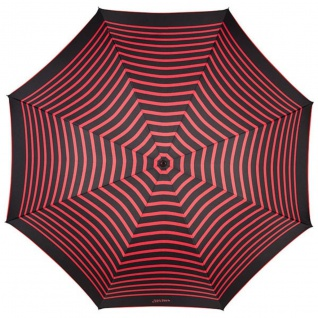 Jean Paul Gaultier Luxus Designer Damen Regenschirm in schwarz im Marine-Look mit roten Streifen - Luxury Edition - Vorschau 2