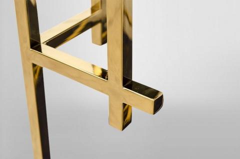Casa Padrino Art Deco Beistelltisch Gold Metall / Marmor 60 x 60 cm- Jugendstil Tisch - Möbel Blumentisch - Vorschau 3