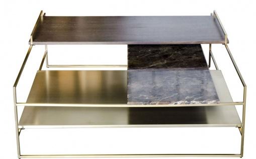 Casa Padrino Luxus Couchtisch Gold 100 x 100 x H. 39, 5 cm - Designer Wohnzimmertisch