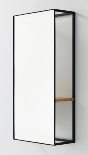 Casa Padrino Luxus Wandspiegel mit Regal 40 x 17 x H. 80 cm - Designer Spiegel