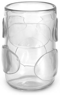 Casa Padrino Luxus Deko Glas Vase Ø 19 x H. 27 cm - Elegante mundgeblasene Blumenvase - Luxus Kollektion