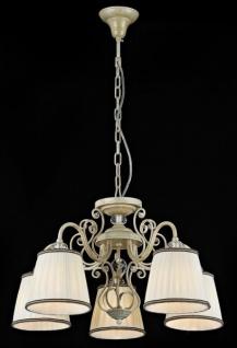 Casa Padrino Barock Decken Kristall Kronleuchter Weiß Gold 58 x H 36 cm Antik Stil - Möbel Lüster Leuchter Hängeleuchte Hängelampe