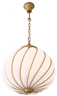Casa Padrino Luxus Kronleuchter Antik Messingfarben / Weiß Ø 43 x H. 50 cm - Luxus Kollektion - Vorschau 4