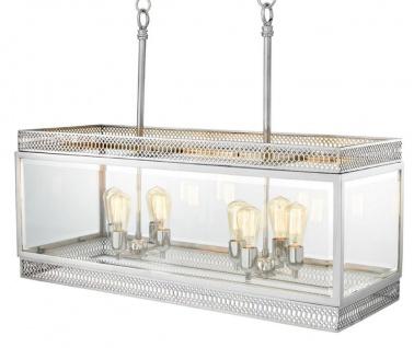 Casa Padrino Luxus Kronleuchter Silber 100 x 38 x H. 84 cm - Hotel Restaurant Möbel - Vorschau 2