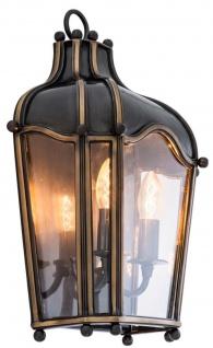 Casa Padrino Messing Wandleuchte Rotguss 31, 5 x 15 x H. 47 cm - Luxus Wohnzimmer Wandlampe