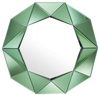 Casa Padrino Luxus Wandspiegel Grün 105 x 10 x H. 100 cm - Garderoben Spiegel - Wohnzimmer Spiegel - Luxus Qualität