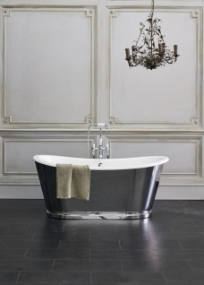 Casa Padrino Luxus Jugendstil Badewanne 167, 5 x 76, 1 x H. 71, 1 cm - Verschiedene Farben - Freistehende Retro Badewanne - Badezimmer Möbel