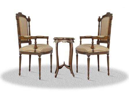 Casa Padrino Barock Wohnzimmerstuhl Set mit Beistelltisch - Barock Möbel
