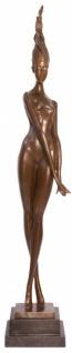 Riesige Casa Padrino Luxus Bronze Figur Modernismus Akt stehender Frau 100, 5 cm - Skulptur Abstrakte Moderne
