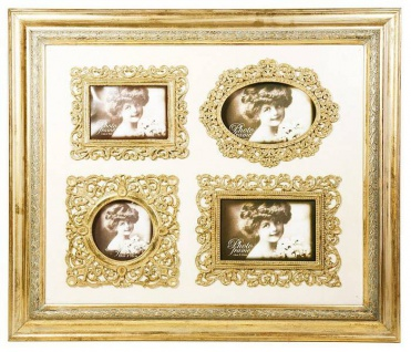 Barock Wandbilderrahmen Gold Mod KL17 Family Frame H 50 cm, Breite 58 cm - Bilder Rahmen Foto Rahmen Jugendstil Antik - Vorschau 2