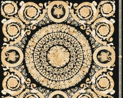 Versace Designer Barock Vliestapete IV 37055-3 - Schwarz / Gold - Design Tapete - Hochwertige Qualität