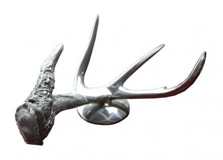 Casa Padrino Deko Horn - Aluminium vernickelt - Luxus Schreibtisch Dekoration