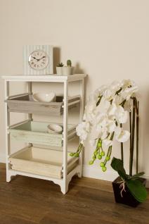 Casa Padrino Landhausstil Regalschrank Weiß / Mehrfarbig 54 x 32 x H. 86 cm - Handgefertigter Shabby Chic Regalschrank mit 3 Fächern - Vorschau 5