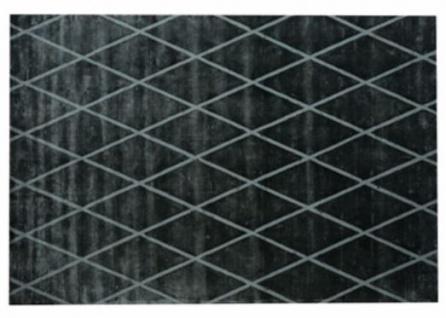 Casa Padrino Luxus Wohnzimmer Teppich Schwarz / Grau 400 X 500 Cm   Luxus  Wollteppich