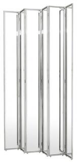Casa Padrino Designer Raumteiler Silber 150 x H. 220 cm - Luxus Qualität