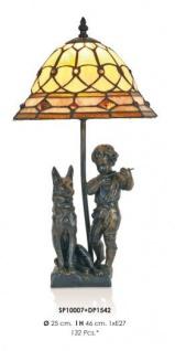 Handgefertigte Tiffany Dekoleuchte Figurenleuchte Höhe 46 cm, Durchmesser 25 cm - Leuchte Lampe - Statuette
