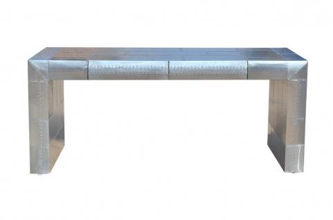 Casa Padrino Art Deco Aluminium Tisch - Flugzeug / Flieger Möbel Schreibtisch