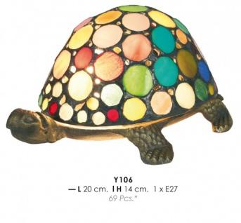 Tiffany Decoleuchte Durchmessr 20cm, Höhe 14cm Schildkröte bunt Y106 Leuchte Lampe