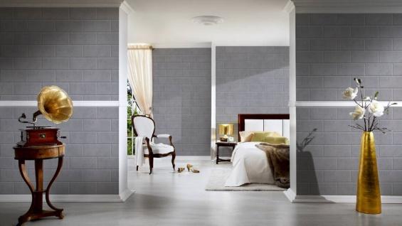 Versace Designer Vliestapete Via Gesu 343224 in Steinoptik Grau - Design Tapete - Luxus Deko Accessoires - Vorschau 3