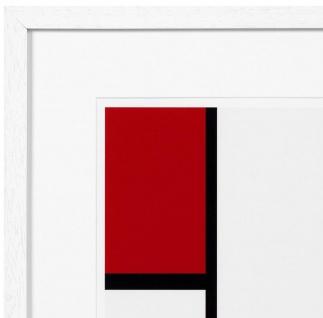 Casa Padrino Designer Deko Bilder 2er Set Mehrfarbig / Weiß 75 x H. 75 cm - Luxus Kunstdrucke - Vorschau 3