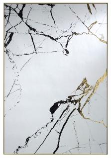 Casa Padrino Designer Spiegel Mattgold / Schwarz 83 x H. 121 cm - Luxus Wandspiegel mit Aluminiumrahmen