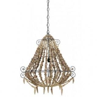 Casa Padrino Hängeleuchte Deckenleuchte Braun Durchmesser 73 x H 82 cm - Möbel Lüster Leuchter Deckenleuchte Deckenlampe