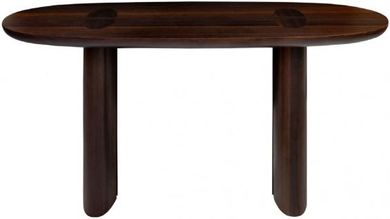 Casa Padrino Luxus Eukalyptus Furnier Konsole Dunkelbraun 180 x 45 x H. 75 cm - Massivholz Konsolentisch - Wohnzimmer Möbel - Luxus Qualität