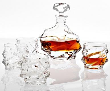 Casa Padrino Kristallglas Whisky / Cognac Set - 4 Whisky Gläser mit Karaffe - Luxus Hotel & Restaurant Accessoires