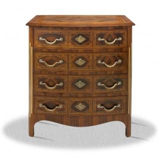 Casa Padrino Barock Kommode mit 4 Schubladen 80 x 40 x H. 85 cm - Antik Möbel